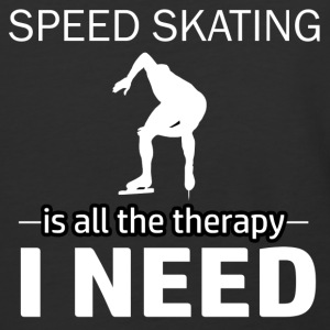 Speedskating is my therapy - Baseball T-Shirt