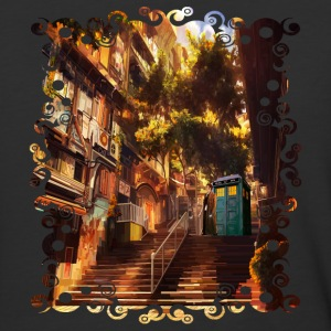 Time Traveler Lost in China town - Baseball T-Shirt