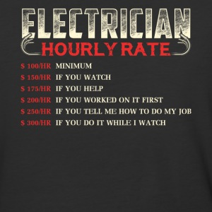 Electrician Hourly Rate T Shirt - Baseball T-Shirt