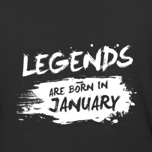 Legends are born in January - Baseball T-Shirt