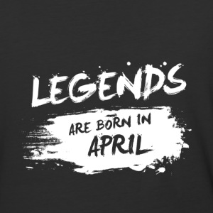 Legends are born in April - Baseball T-Shirt