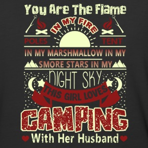 This Girl Loves Camping With Her Husband Shirt - Baseball T-Shirt
