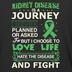 Kidney disease is a journey - Baseball T-Shirt