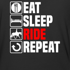 Ladies Eat Sleep Ride - Baseball T-Shirt