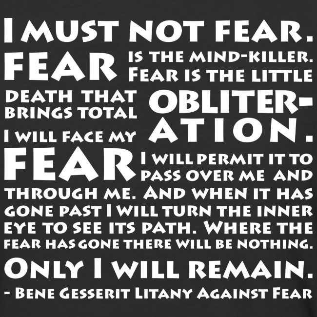 Litany Against Fear
