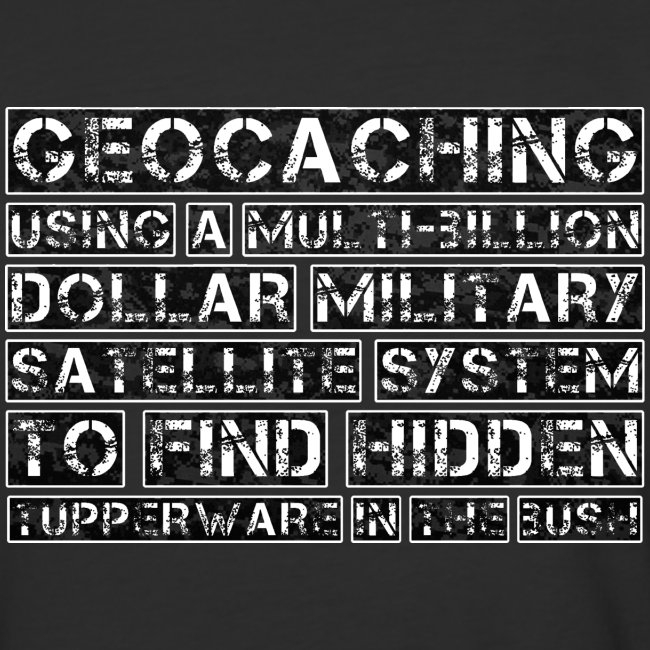 Geocaching Camo Satellite
