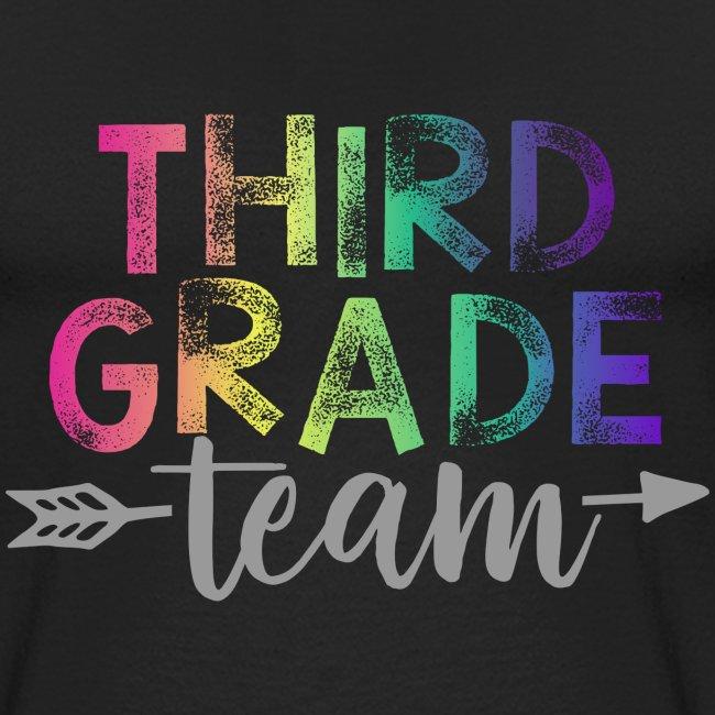 Third Grade Team Teacher T-Shirts Rainbow