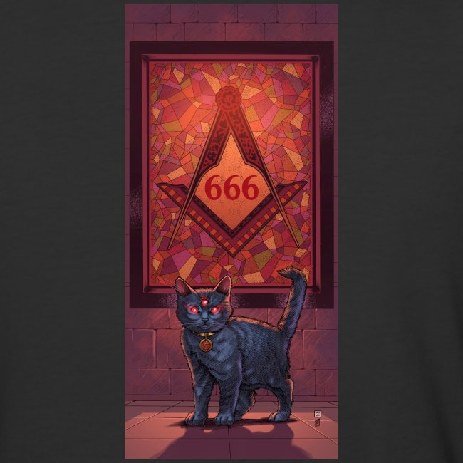 666 Three Eyed Satanic Kitten with Stained Glass