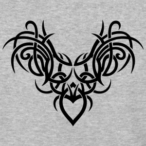 Tribal ornament with wings and heart. - Baseball T-Shirt