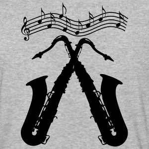 two crossed saxophones - Baseball T-Shirt