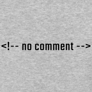 no comment - HTML lowercase - Baseball T-Shirt