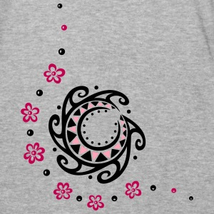 Tribal moon with flowers. Indian Haida Style. - Baseball T-Shirt