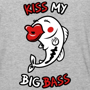 Kiss My Big Bass - Baseball T-Shirt