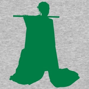 Vector Asian Silhouette - Baseball T-Shirt