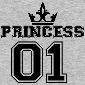 Princess_with_crown_01 - Baseball T-Shirt