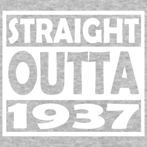 80th Birthday T Shirt Straight Outta 1937 - Baseball T-Shirt