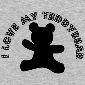 I love my teddybear - Baseball T-Shirt