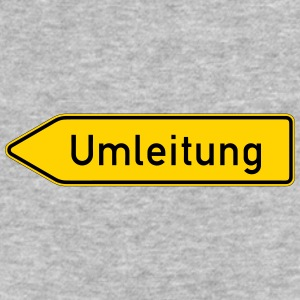 Umleitung Left - German Traffic Sign - Baseball T-Shirt
