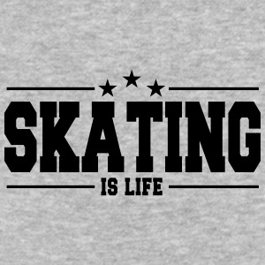Skating is life 1 - Baseball T-Shirt