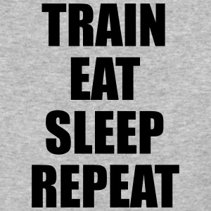 Train Eat Sleep Repeat - Baseball T-Shirt