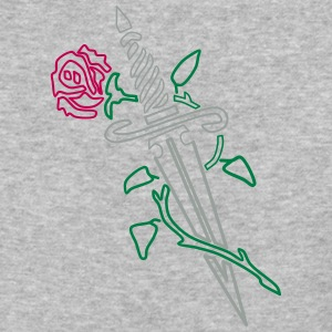 Rose with Knife - Baseball T-Shirt