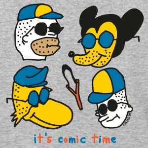 It's Comic Time by Cheslo - Baseball T-Shirt