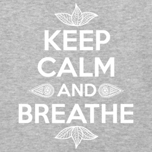 Keep calm and breathe - Baseball T-Shirt