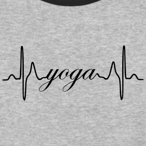 Yoga ECG Heartbeat - Baseball T-Shirt
