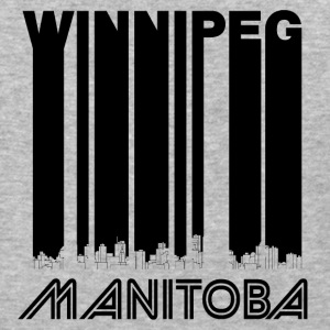 Retro Winnipeg Manitoba Canada Skyline - Baseball T-Shirt