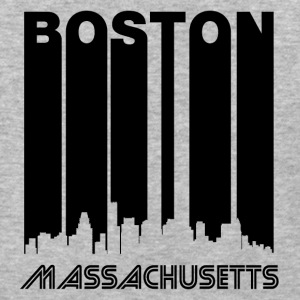 Retro Boston Skyline - Baseball T-Shirt
