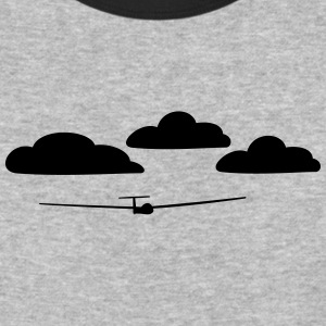 glider with clouds - Baseball T-Shirt