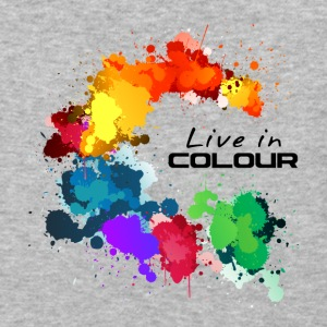 Live In Colour - Paint Splashes Colour Tee - Baseball T-Shirt