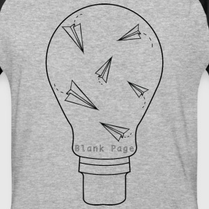 Blank Page Lightbulb - Baseball T-Shirt