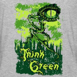 THINK GREEN all eyes on you save our nature - Baseball T-Shirt