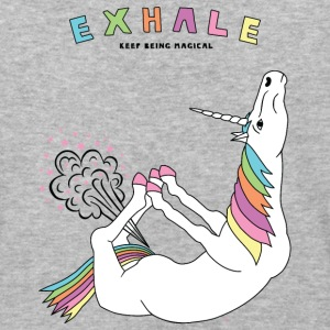 Bow Pose Unicorn Exhale Outline - Baseball T-Shirt