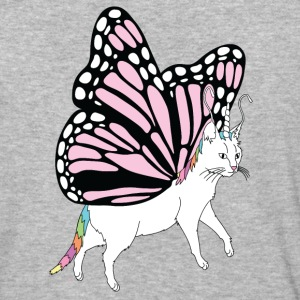 Butterfly Cat Outline - Baseball T-Shirt