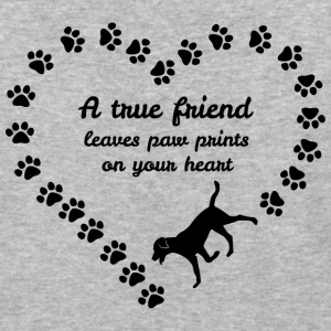 A True Friend Leaves Paw Prints On Your Heart Tees - Baseball T-Shirt