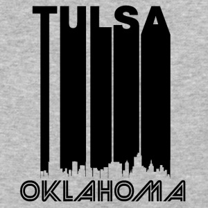 Retro Tulsa Skyline - Baseball T-Shirt