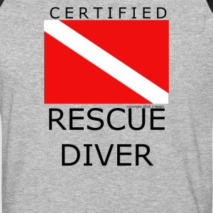 Rescue Diver - Baseball T-Shirt