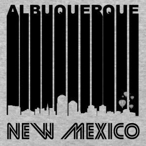 Retro Albuquerque Skyline - Baseball T-Shirt