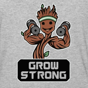 Groot Grow Strong Galaxy Gym Fitness Mashup - Baseball T-Shirt