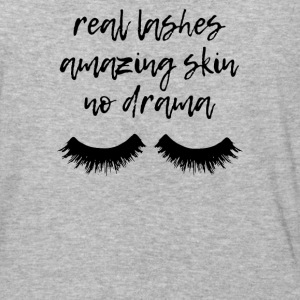 Real Lashes Amazing Skin No Drama - Baseball T-Shirt