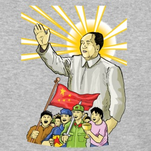 Mao Waves to the People - Baseball T-Shirt