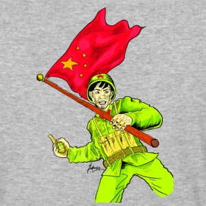 Chinese Soldier With Grenade - Baseball T-Shirt