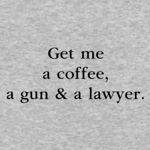 A Coffee, a Gun & a Lawyer - by Fanitsa Petrou - Baseball T-Shirt