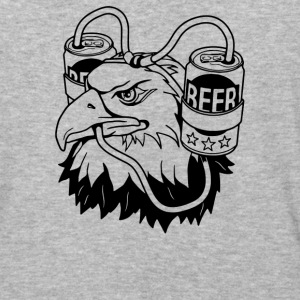 Beer Eagle - Baseball T-Shirt