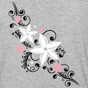 Flowers with filigree floral ornament - Baseball T-Shirt