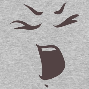 Shouting face - Emotional faces - Baseball T-Shirt