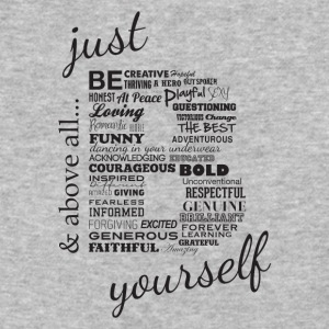 Just B Yourself_blk.txt - Baseball T-Shirt