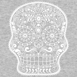 sugar_skull_white - Baseball T-Shirt